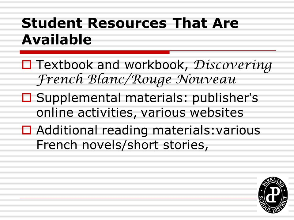 Student Resources That Are Available