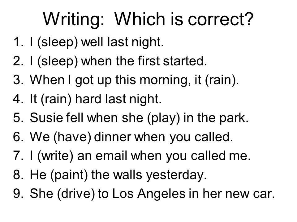 Writing: Which is correct