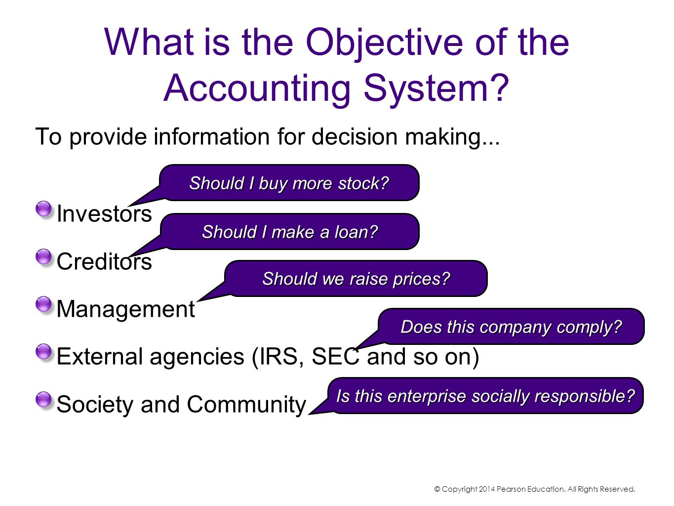 What is the Objective of the Accounting System