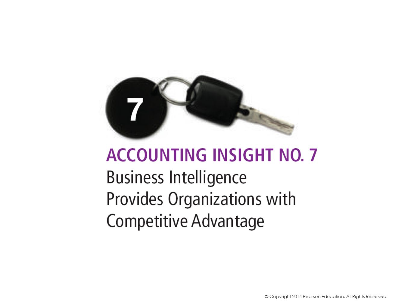 Accounting Insight No 7 relates to the A in SASSY: Analyze accounting data.
