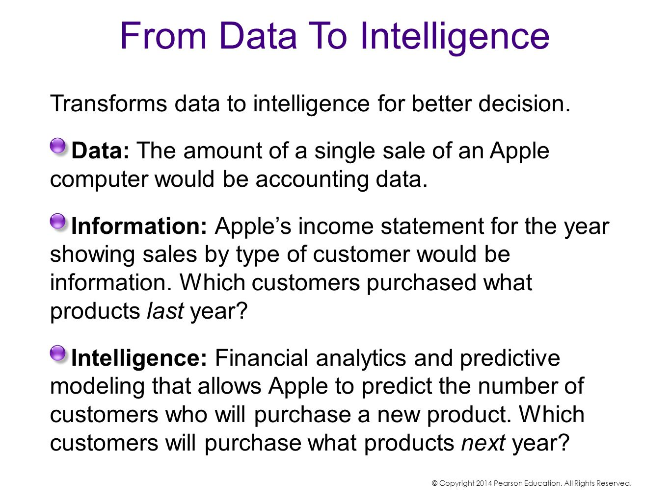 From Data To Intelligence