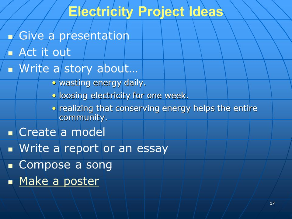 Electricity Project Ideas