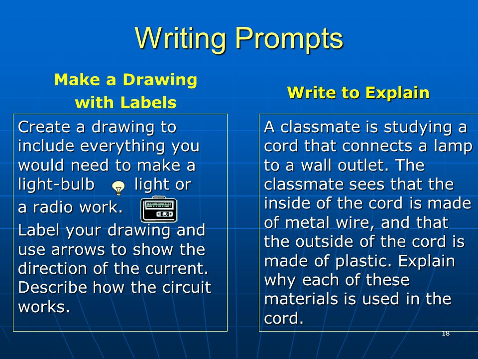 Writing Prompts Write to Explain Make a Drawing with Labels