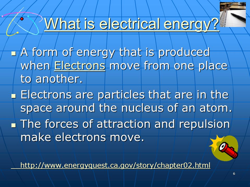What is electrical energy