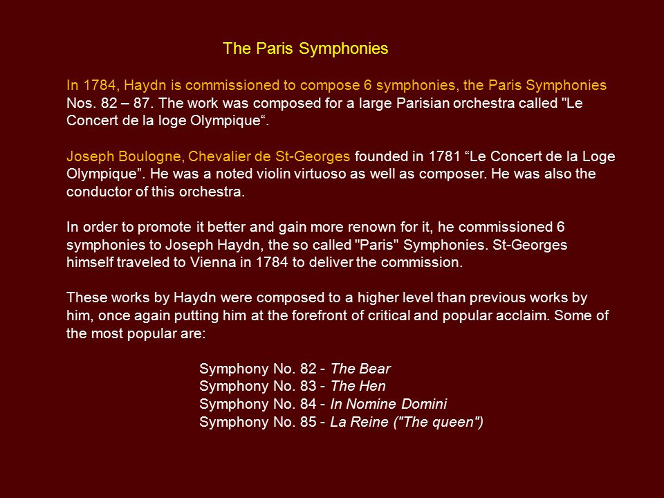 The Paris Symphonies