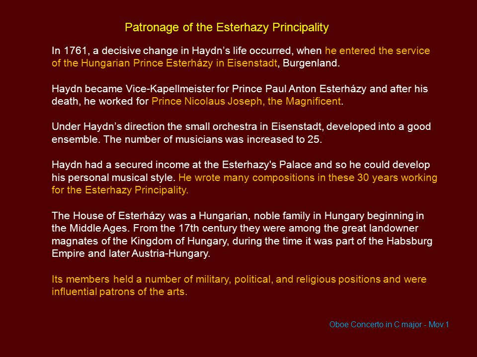 Patronage of the Esterhazy Principality
