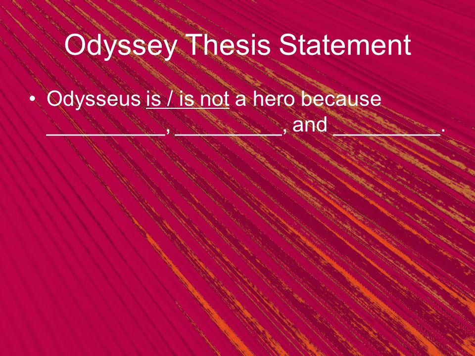 I need a good thesis statement regarding the theme of revenge in the Odyssey.