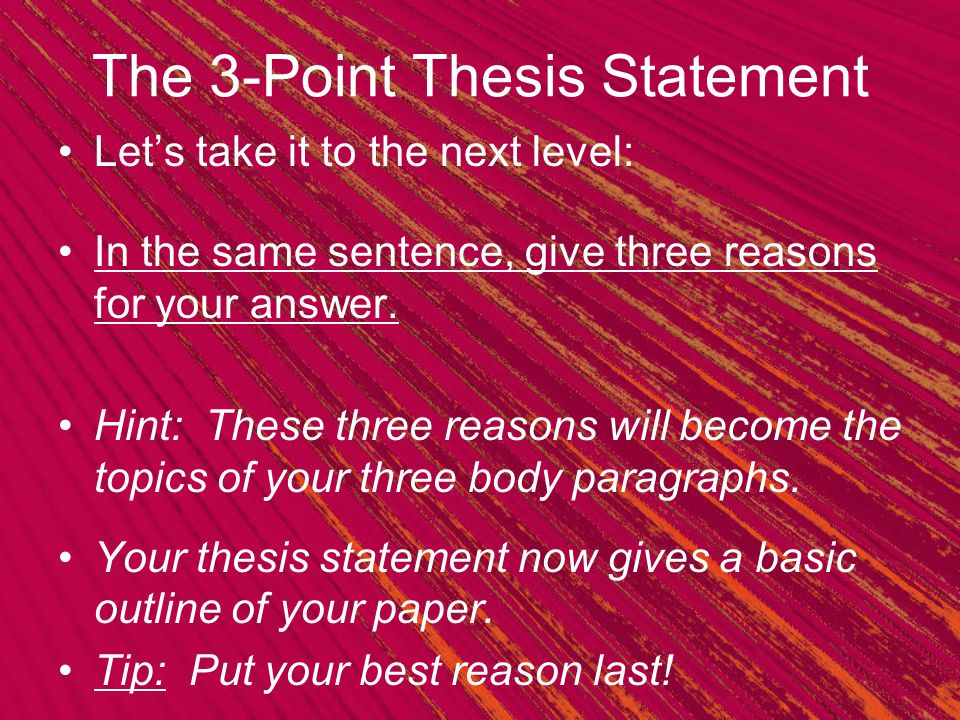 3 point thesis outline