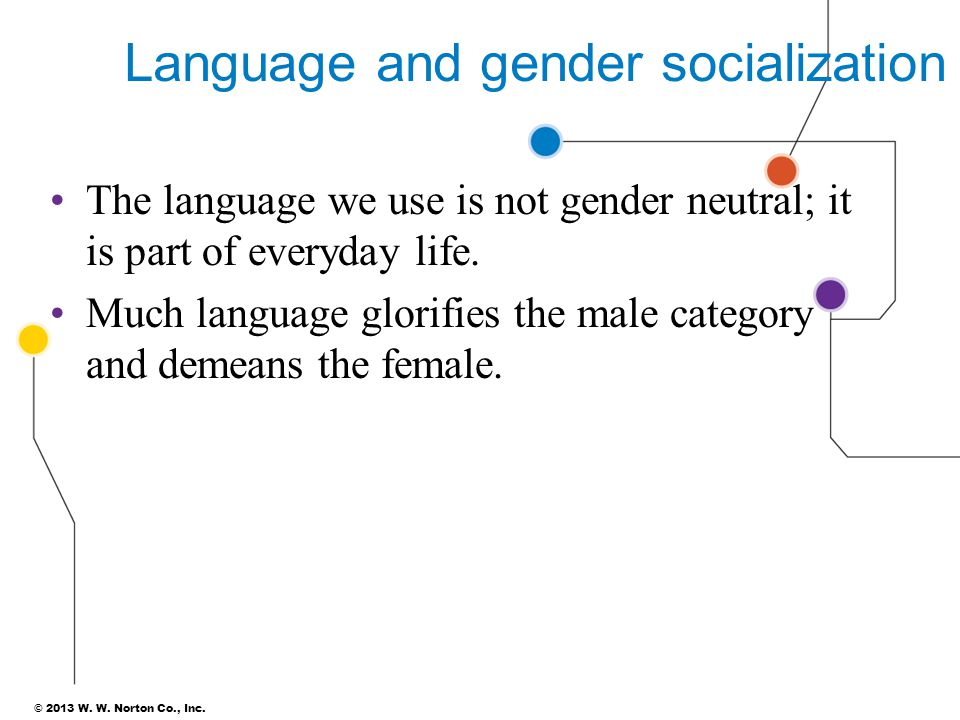 Language and gender socialization