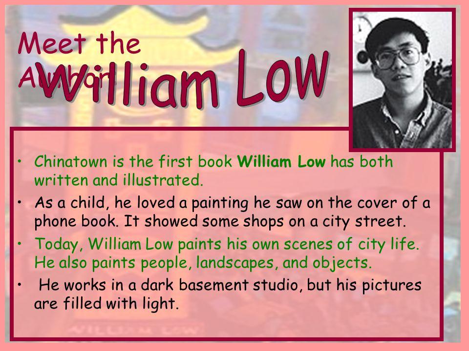 William Low Meet the Author: