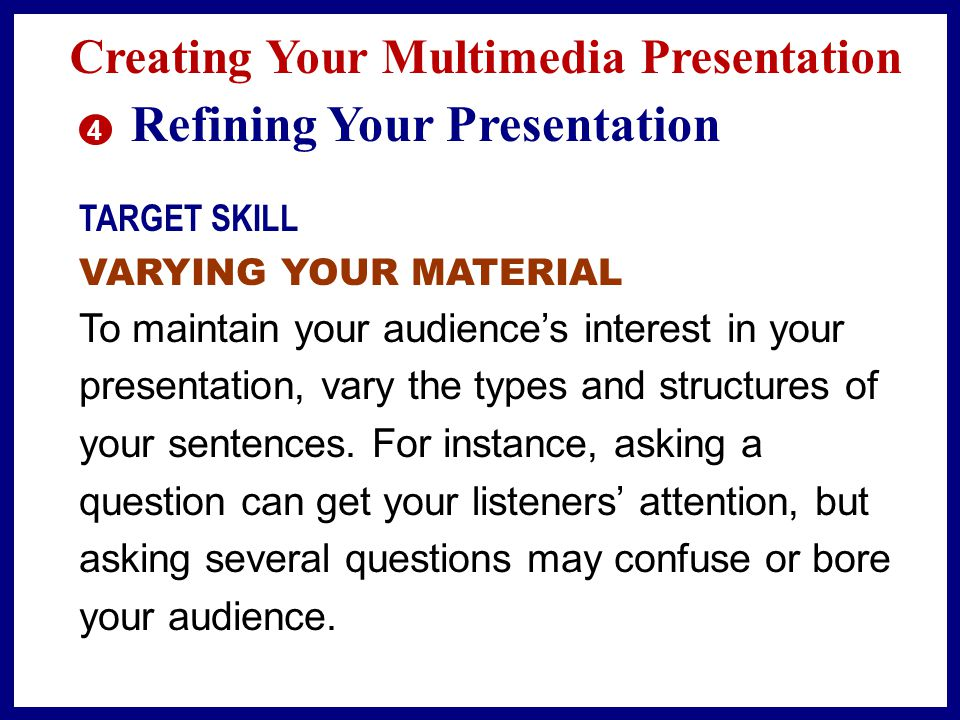 Refining Your Presentation