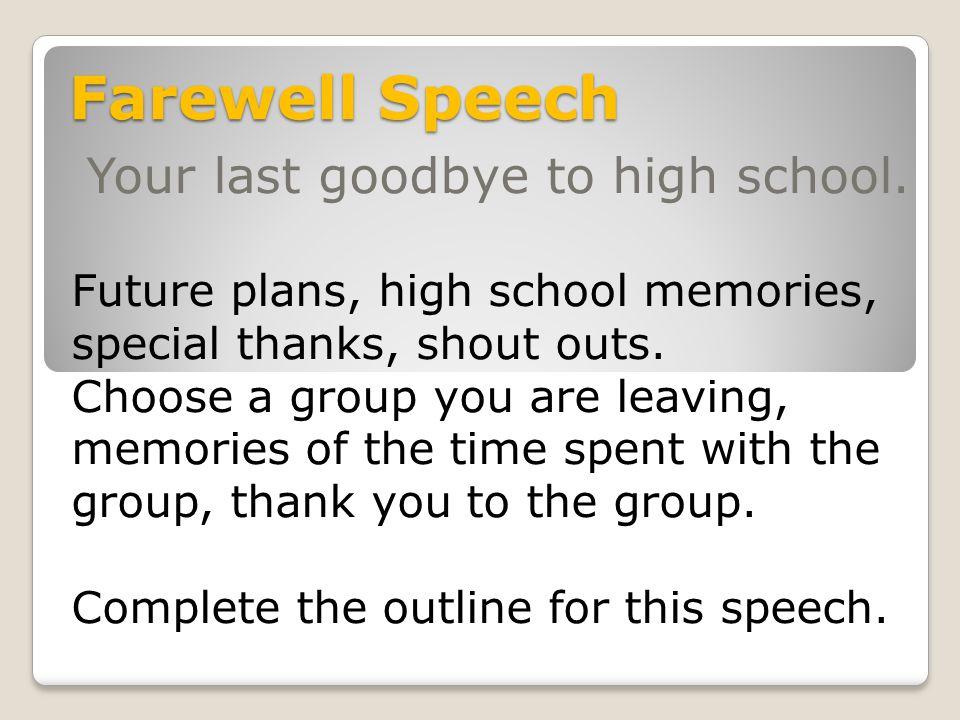 leaving school speech