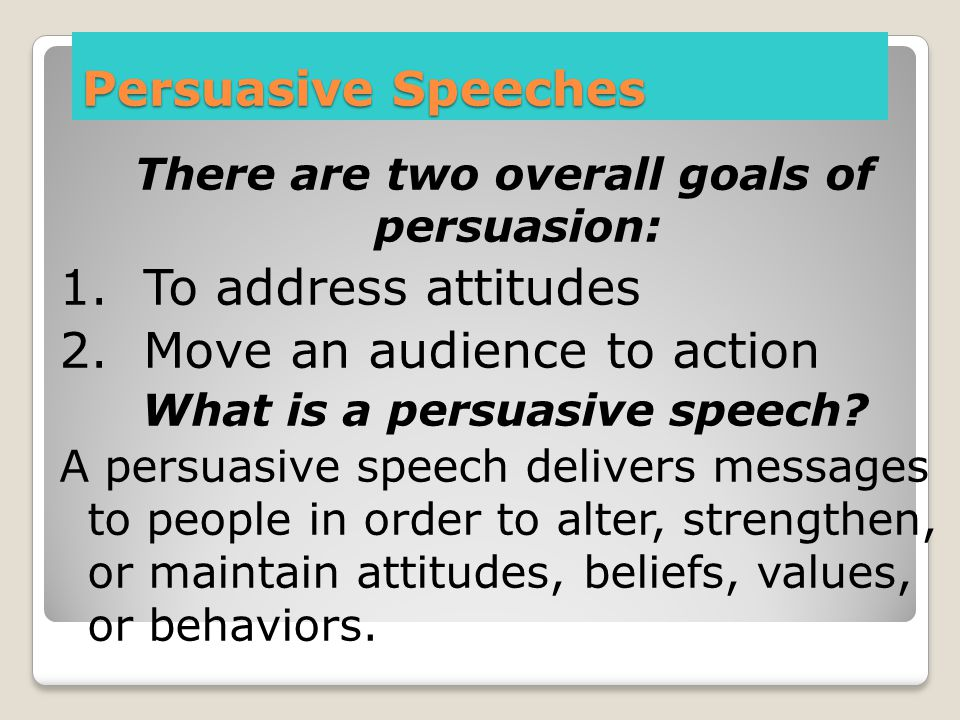 2. Move an audience to action