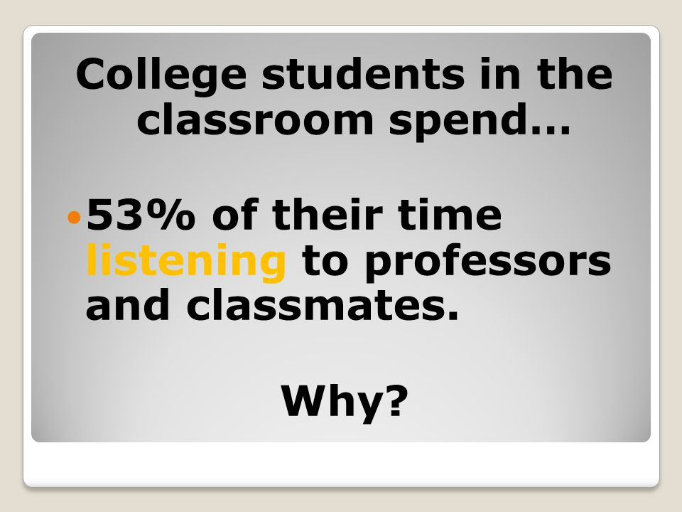 College students in the classroom spend…