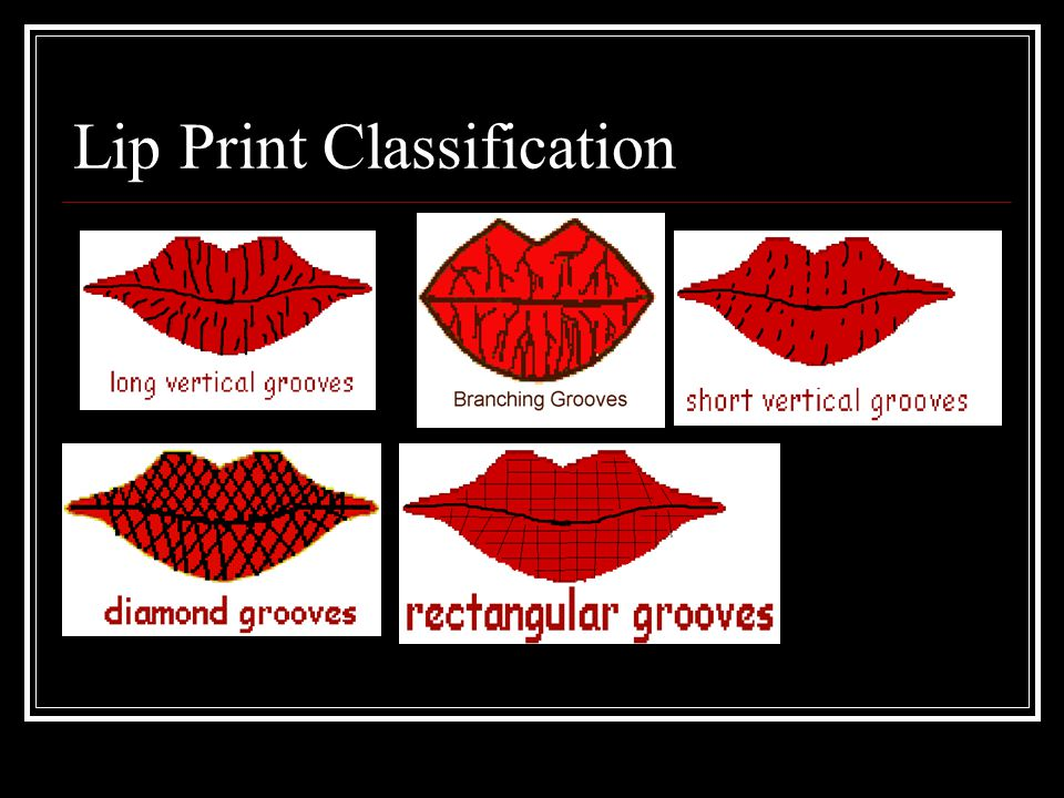 Lip Print Classification