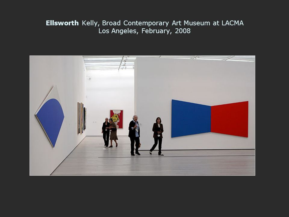 Ellsworth Kelly, Broad Contemporary Art Museum at LACMA Los Angeles, February, 2008