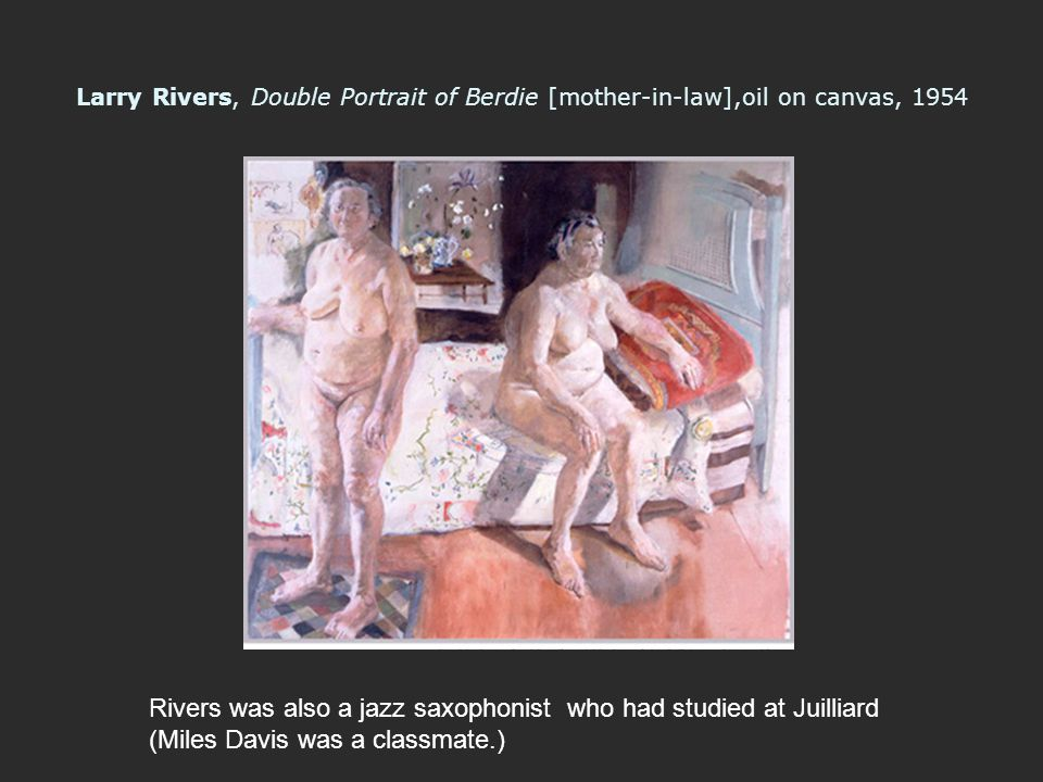 Rivers was also a jazz saxophonist who had studied at Juilliard