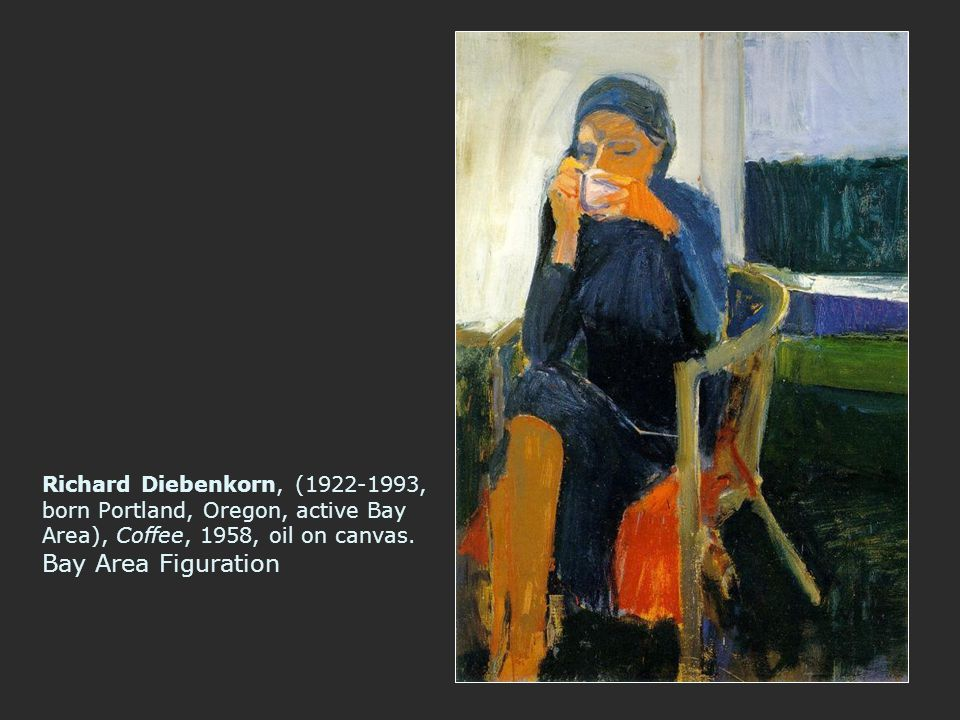 Richard Diebenkorn, (1922-1993, born Portland, Oregon, active Bay Area), Coffee, 1958, oil on canvas.