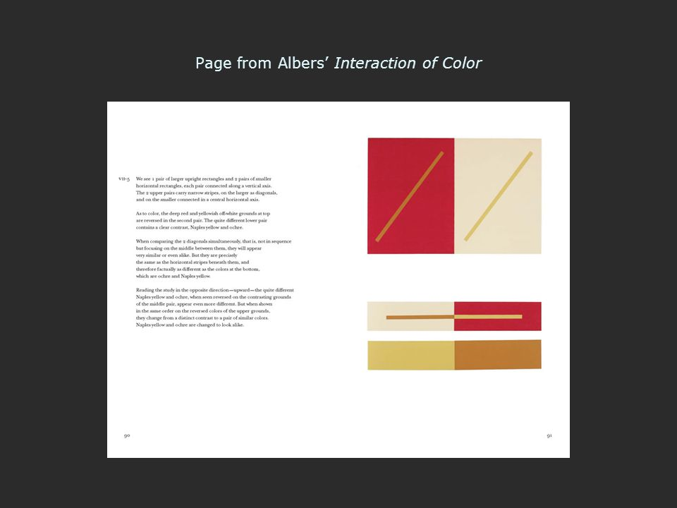 Page from Albers' Interaction of Color