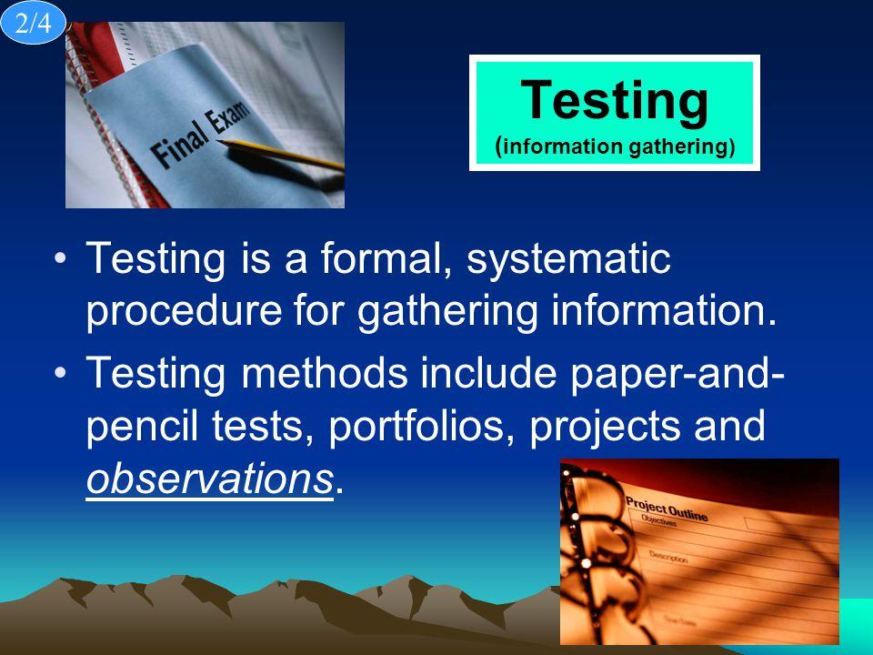Testing (information gathering)