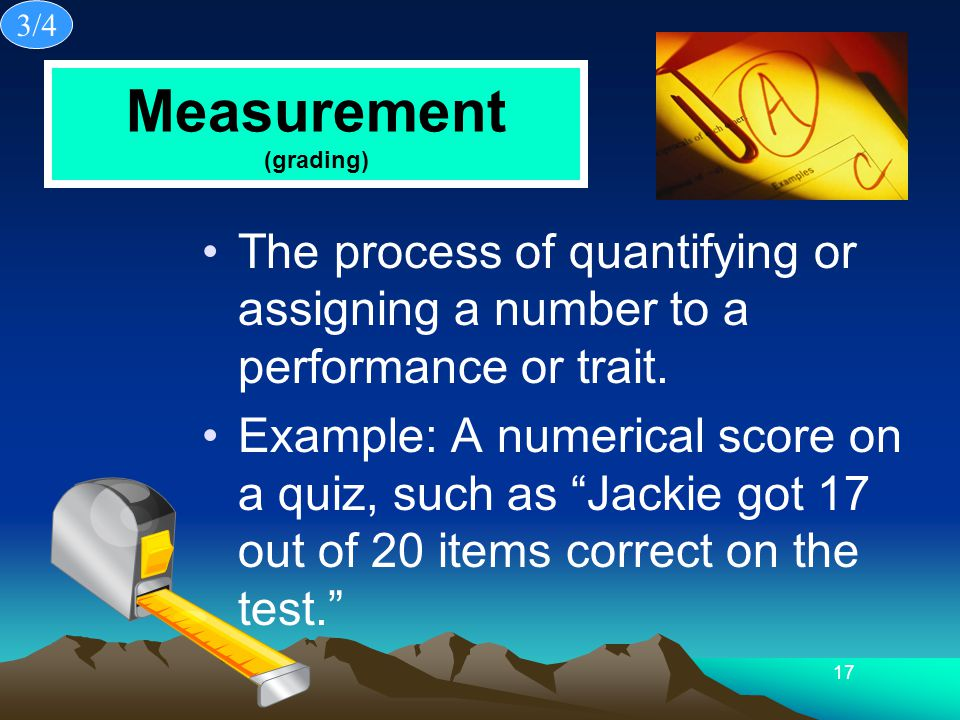 Measurement (grading)