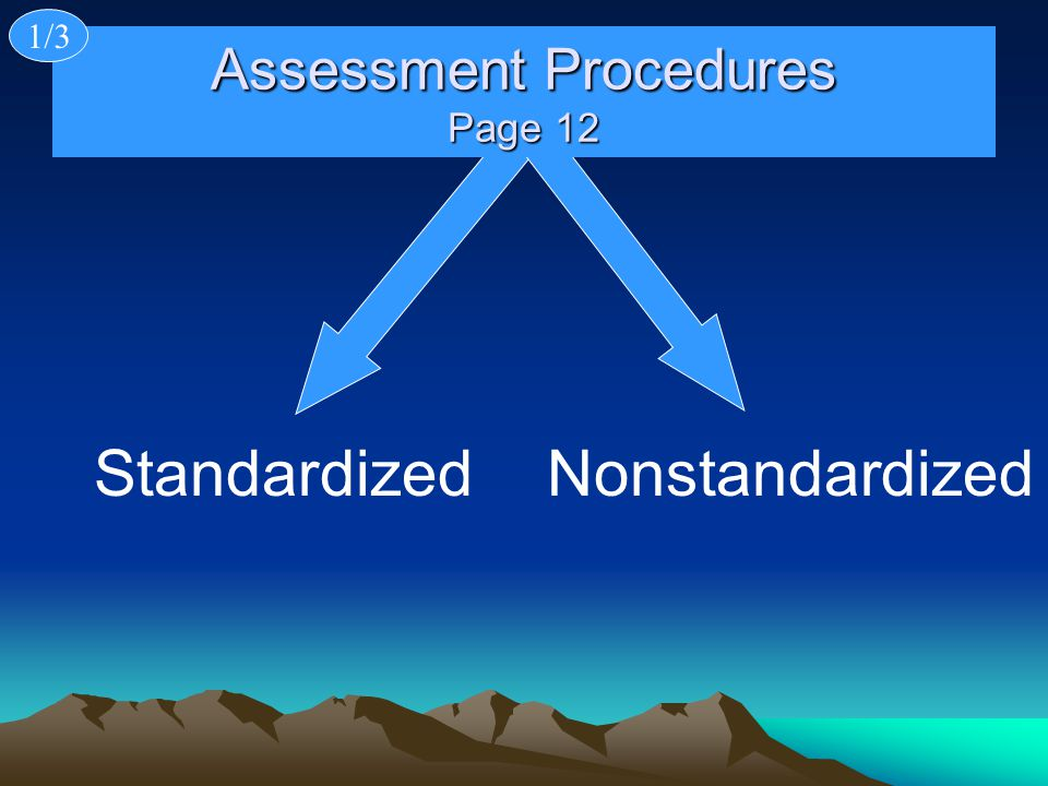 Assessment Procedures Page 12