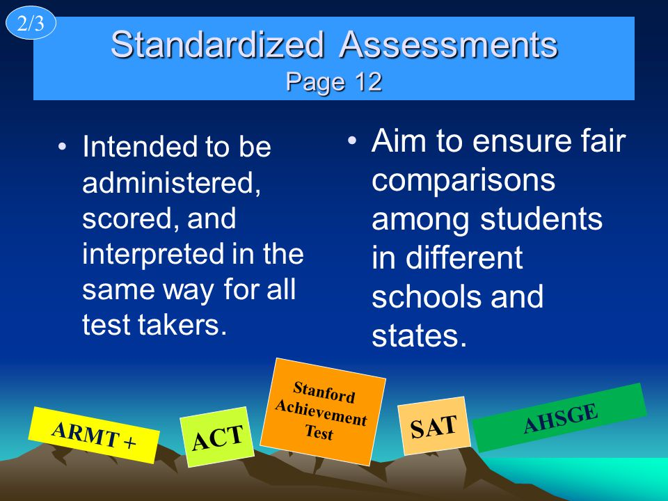 Standardized Assessments Page 12