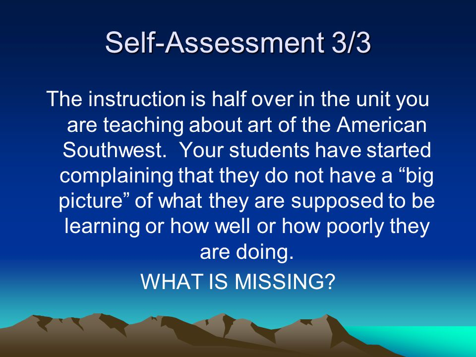 Self-Assessment 3/3