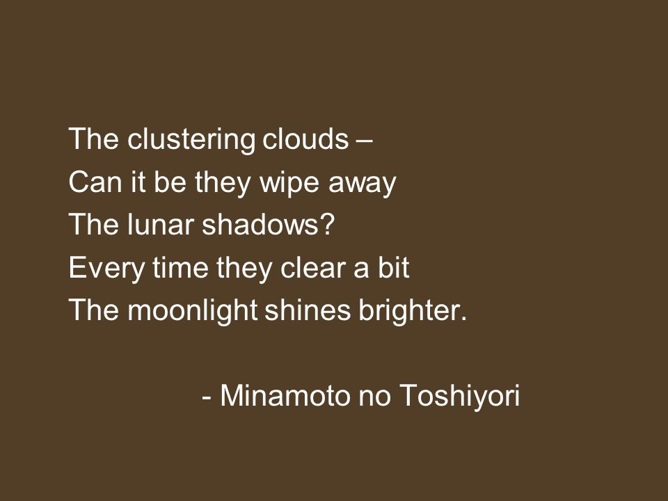 The clustering clouds –