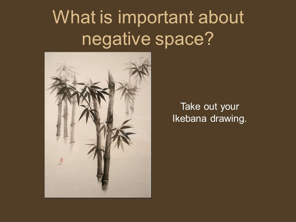 What is important about negative space