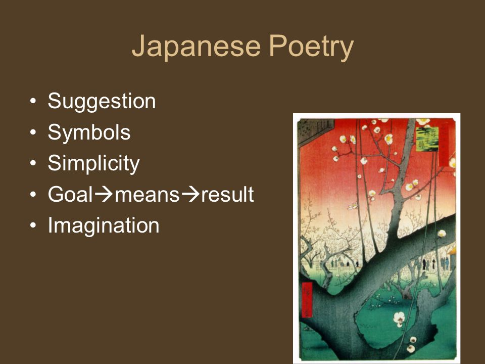 Japanese Poetry Suggestion Symbols Simplicity Goalmeansresult