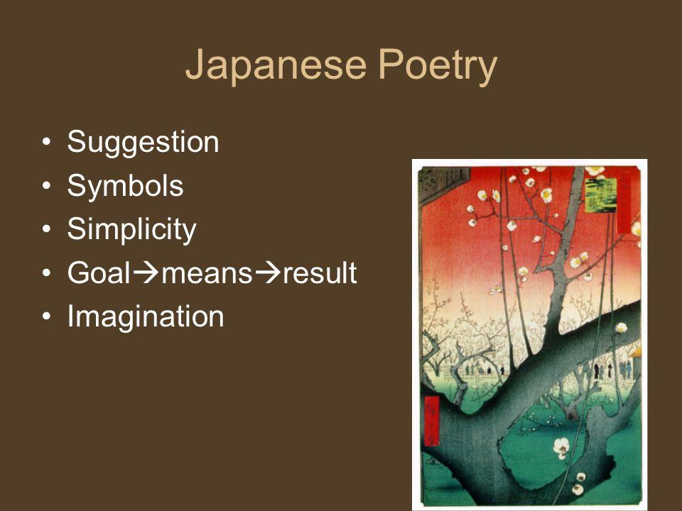 Japanese Poetry Suggestion Symbols Simplicity Goalmeansresult