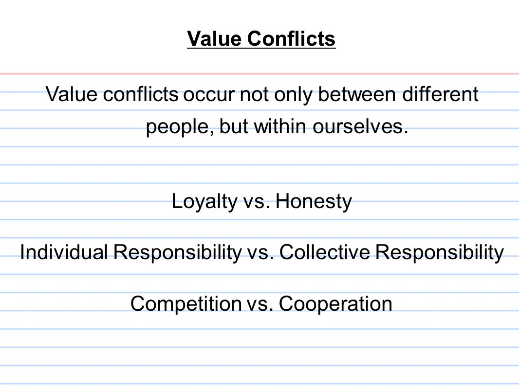 Individual Responsibility vs. Collective Responsibility