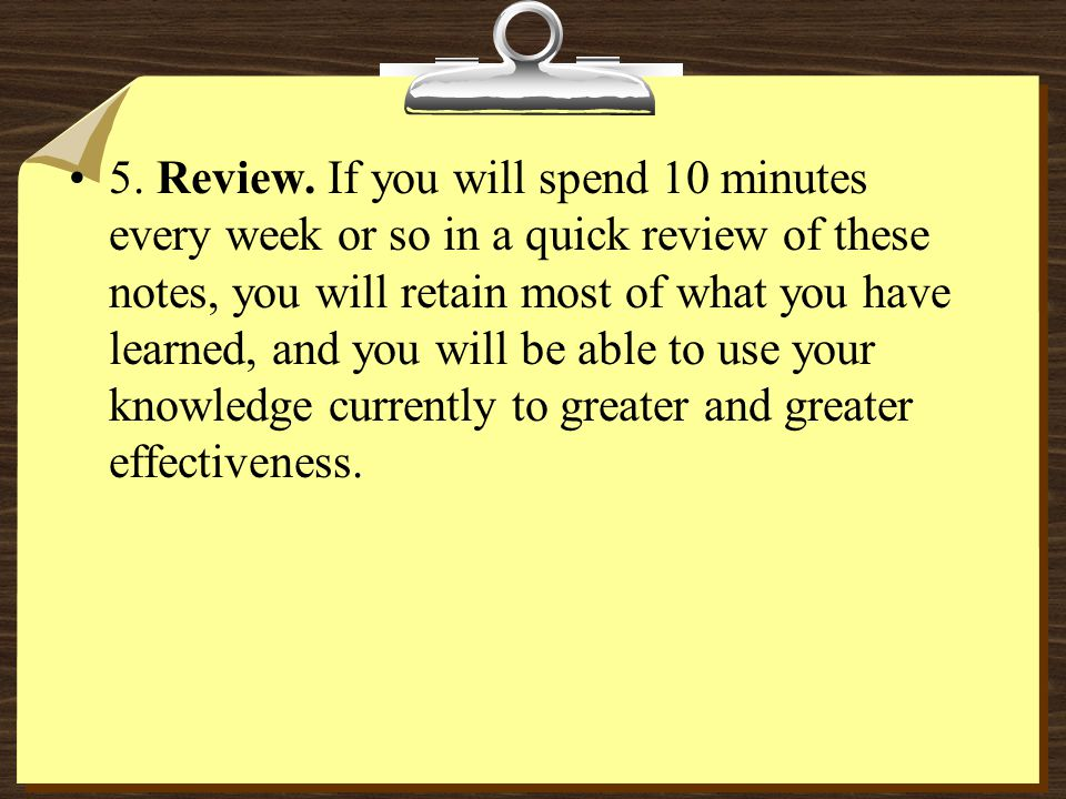 5. Review.