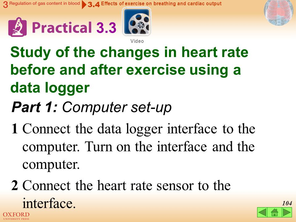2 Connect the heart rate sensor to the interface.