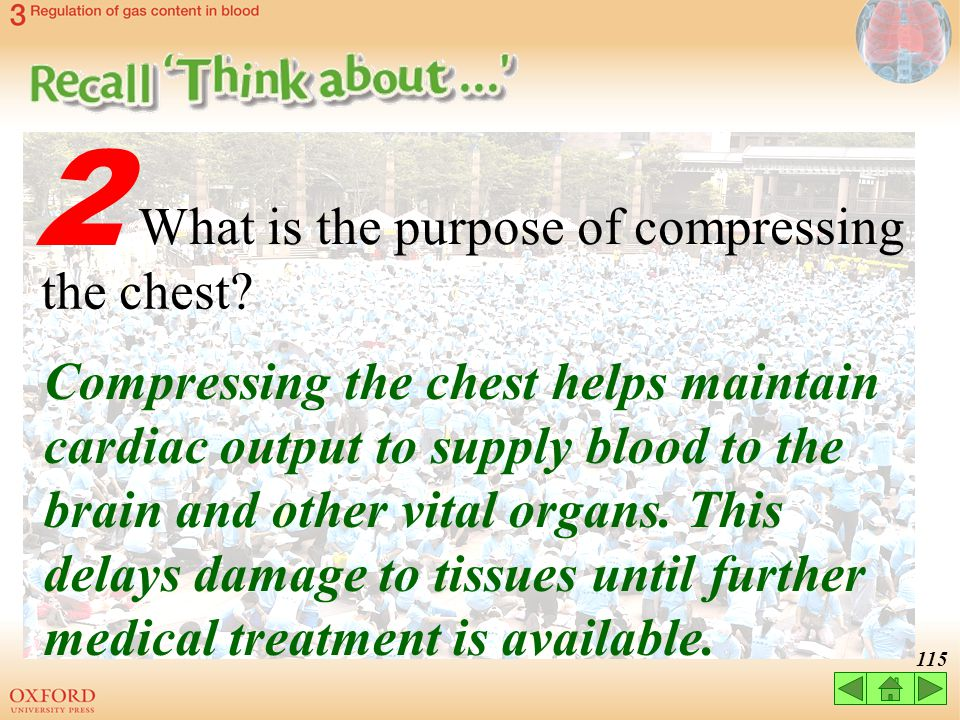 2 What is the purpose of compressing the chest