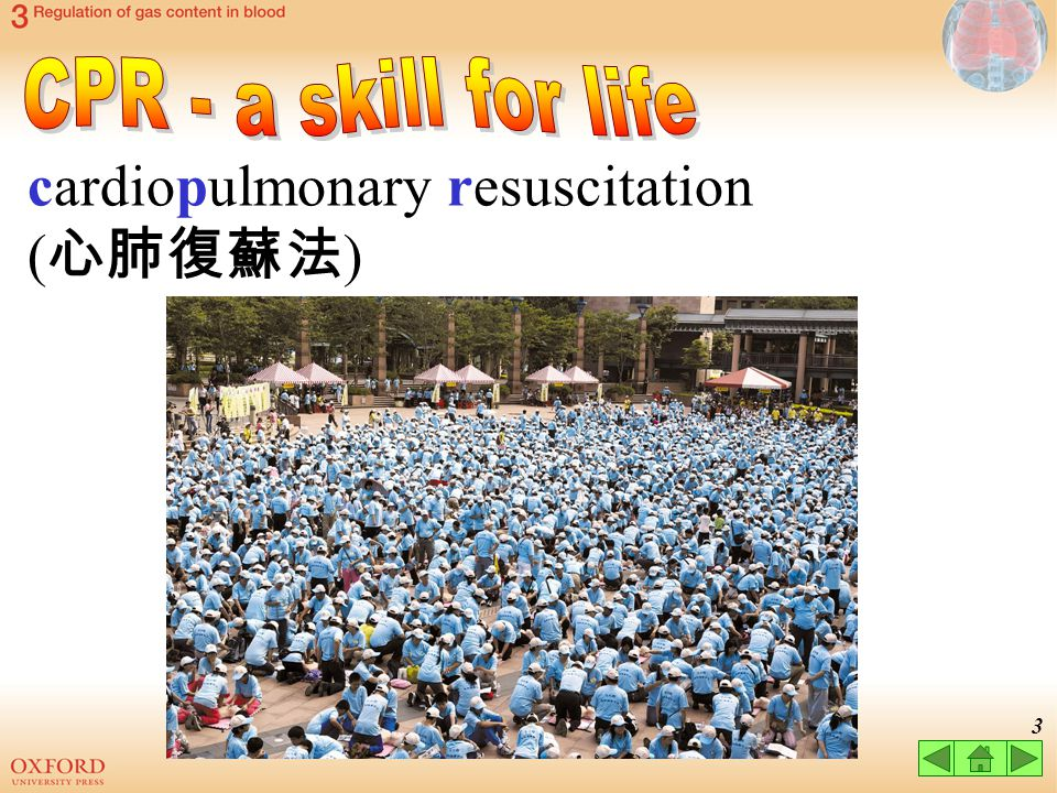 CPR - a skill for life cardiopulmonary resuscitation (心肺復蘇法)