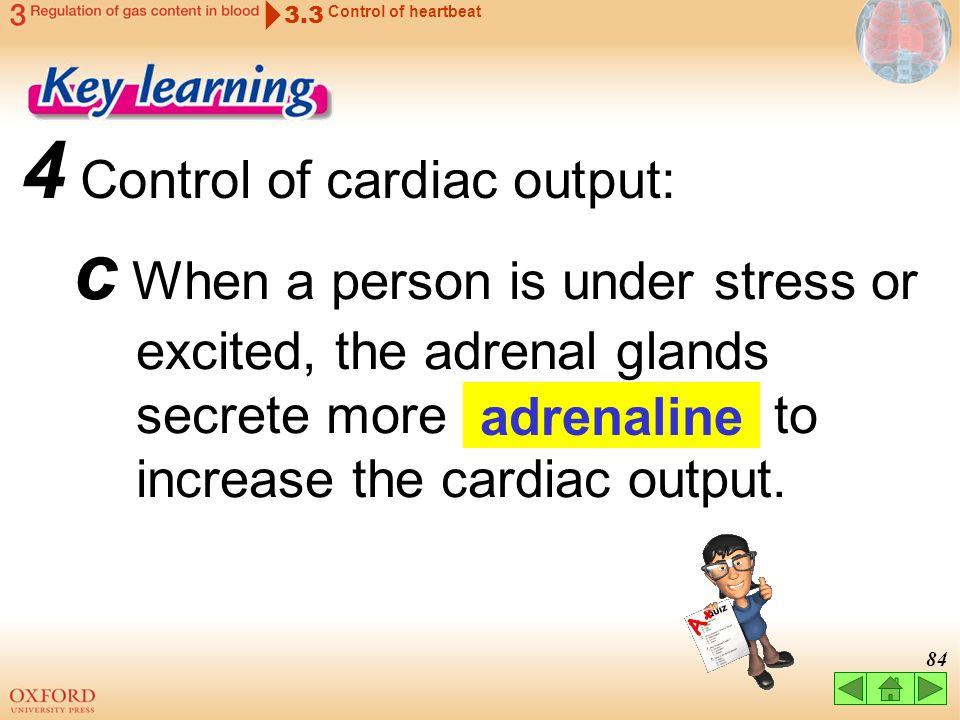 4 Control of cardiac output: