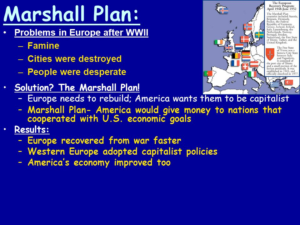 Marshall Plan: Problems in Europe after WWII Famine