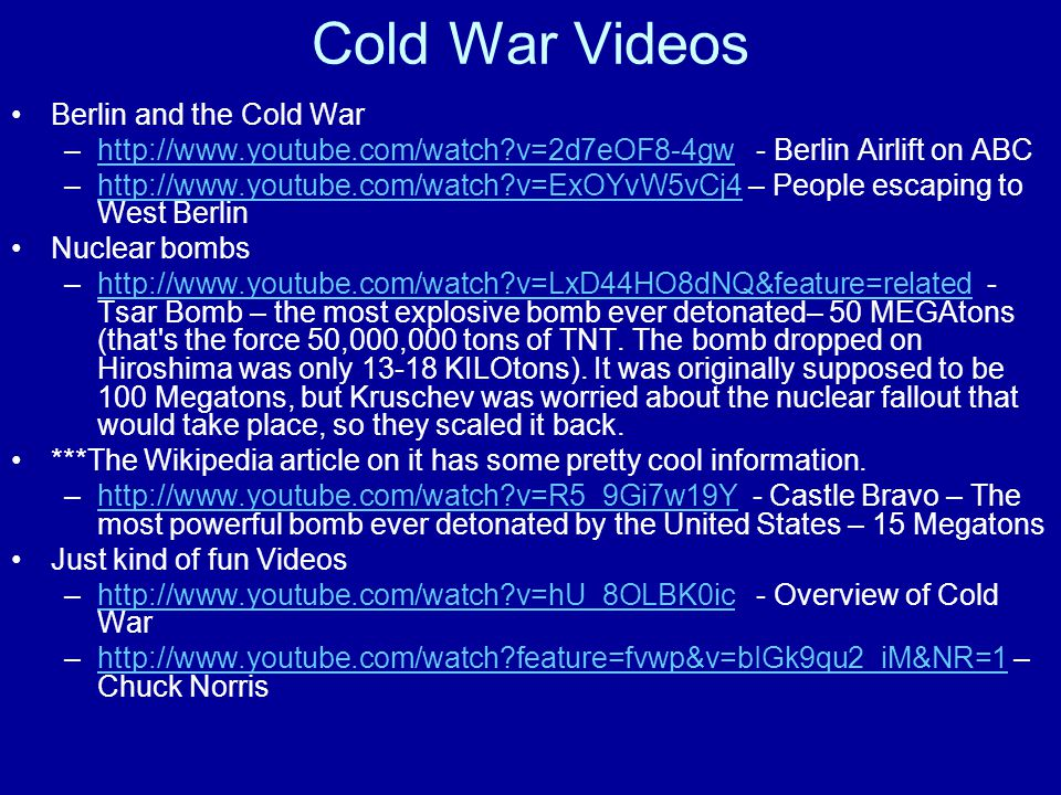 Cold War Videos Berlin and the Cold War
