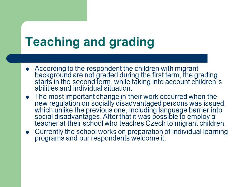 Teaching and grading
