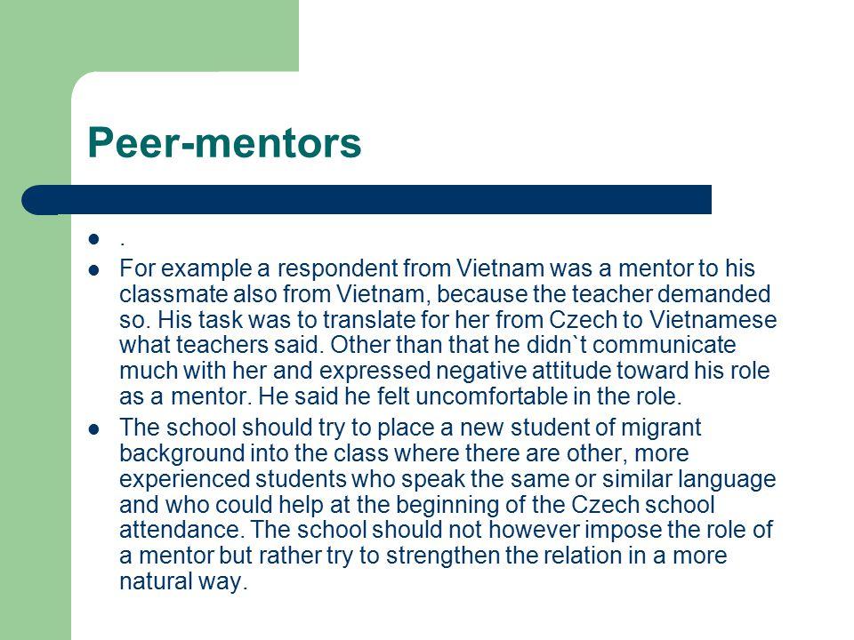 Peer-mentors .