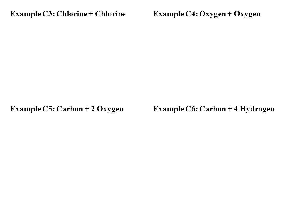 Example C3: Chlorine + Chlorine Example C4: Oxygen + Oxygen