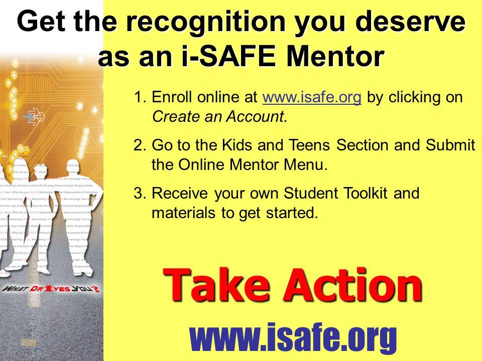 Get the recognition you deserve as an i-SAFE Mentor