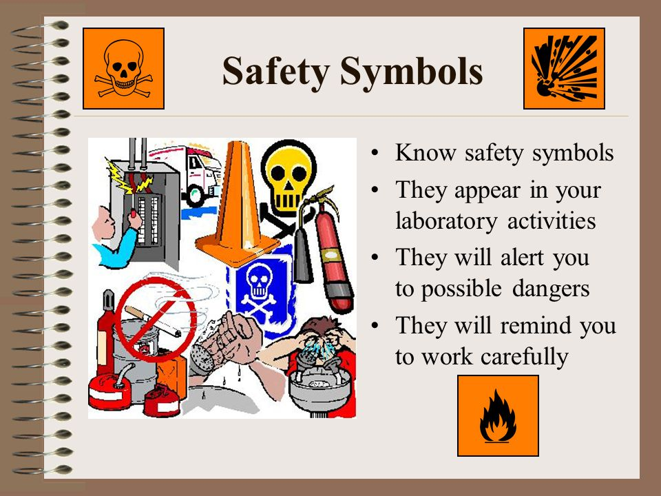 Safety Symbols Know safety symbols