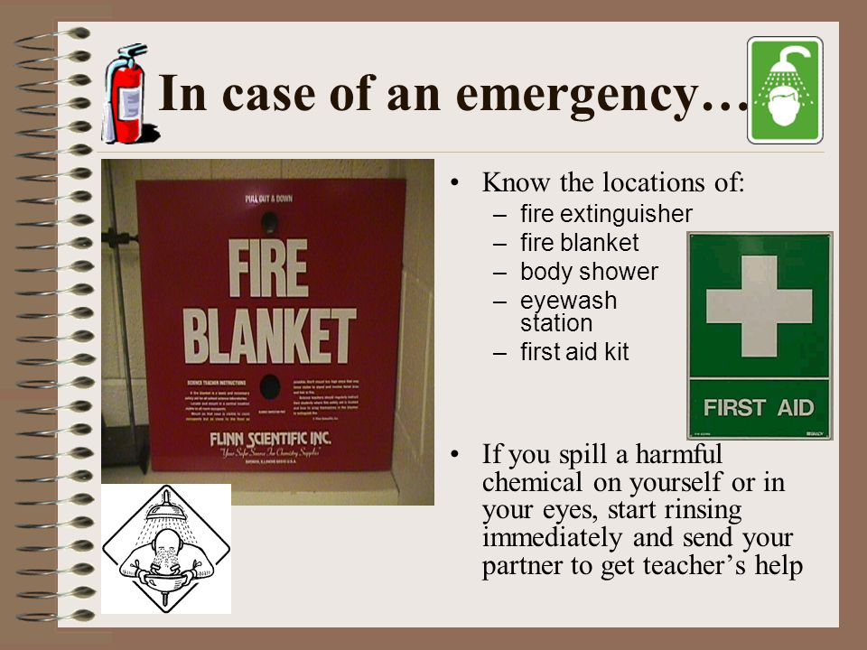 In case of an emergency…