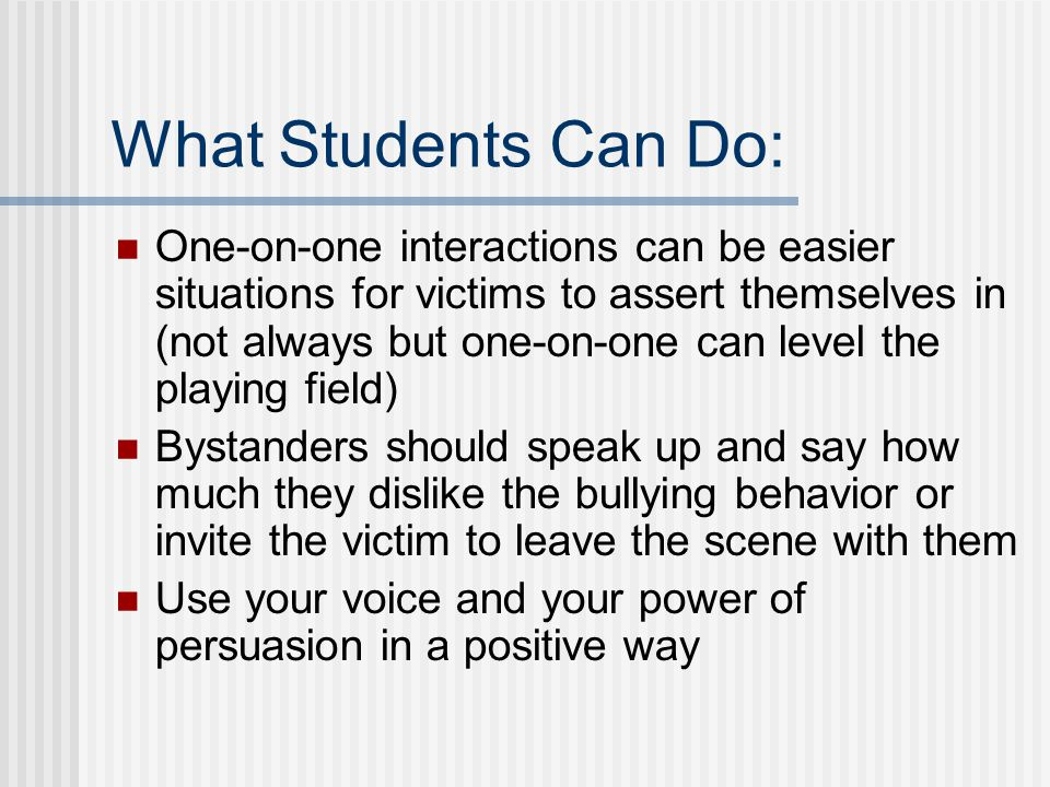 What Students Can Do: