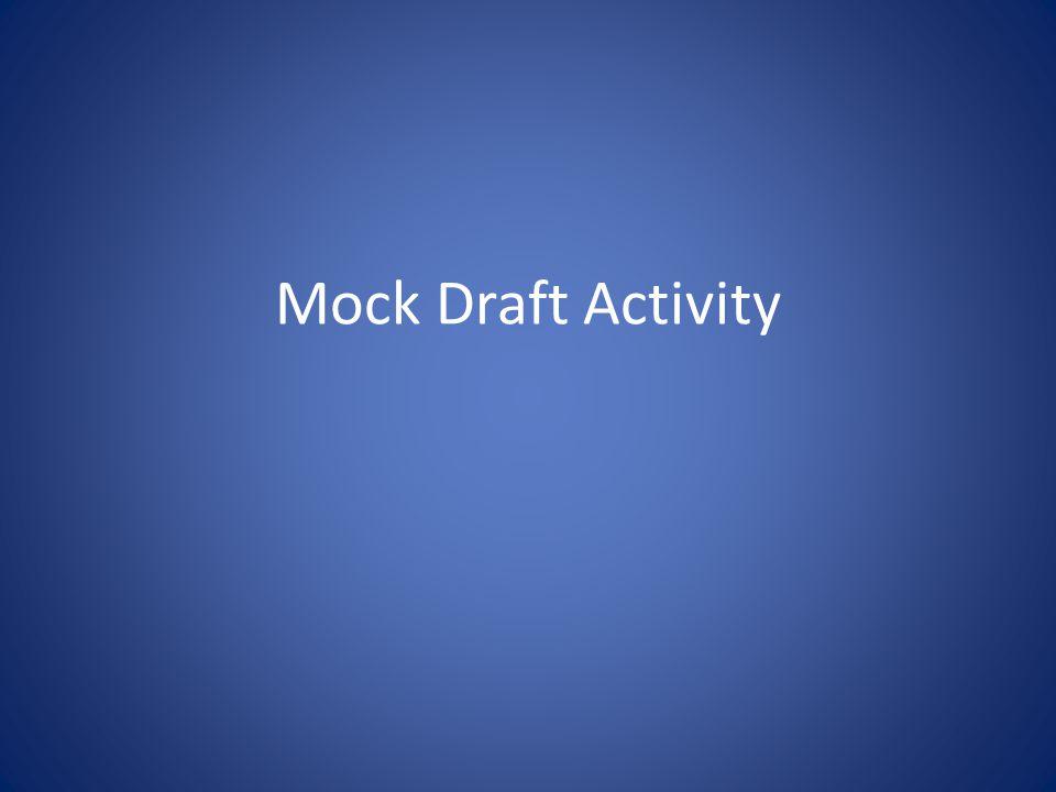 Mock Draft Activity