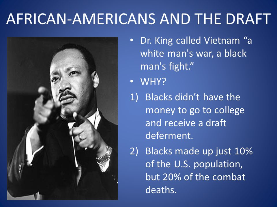 AFRICAN-AMERICANS AND THE DRAFT