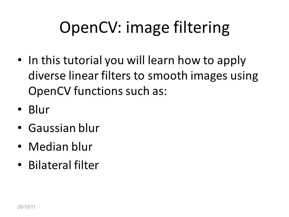 OpenCV: image filtering